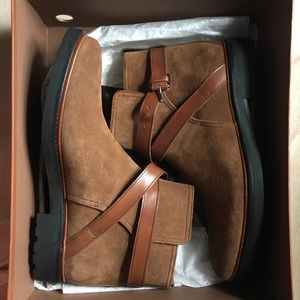 "coach mens boot brown suede ""bryant jodhpur"""